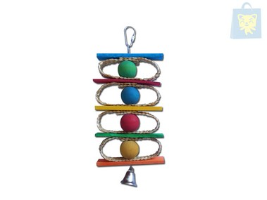 ARQUIVET - TOY BALLS OF COLORS AND HOOD (10x25cm)