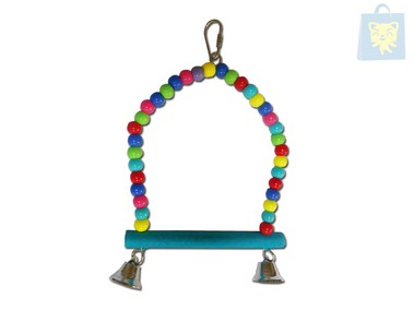 ARQUIVET - MULTICOLOR SWING WITH BELLS (15x24cm)