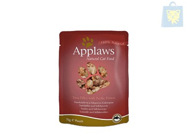 APPLAWS - TUNA AND PACIFIC PRAWNS (70g)