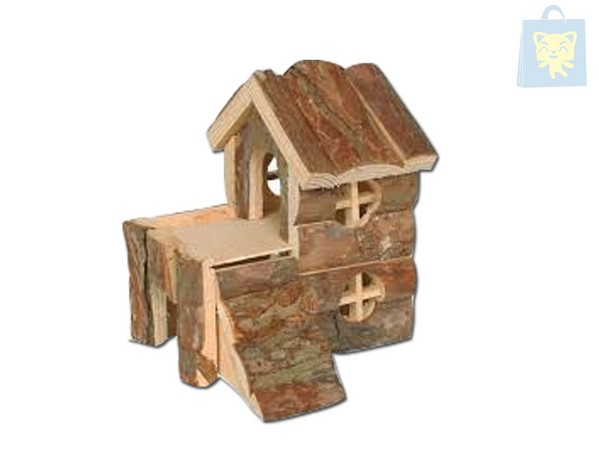 ARQUIZOO - HOME WOOD 2 FLOORS FOR RODENTS (29x20x30cm)