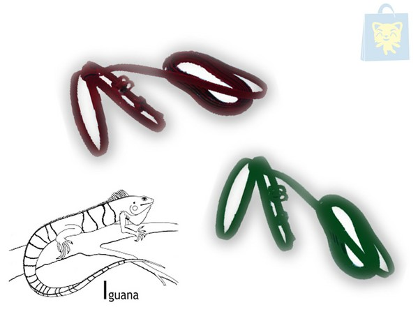 JUCAL - HARNESS FOR REPTILES (green or garnet)