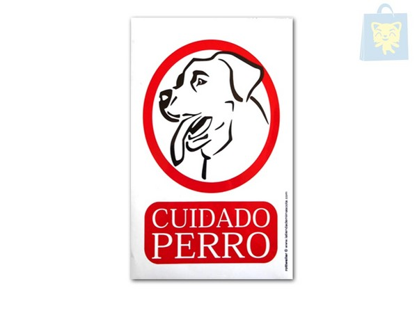 MN - WARNING POSTER LABRADOR RETRIEVER DRAWING(29 x 20 cm)