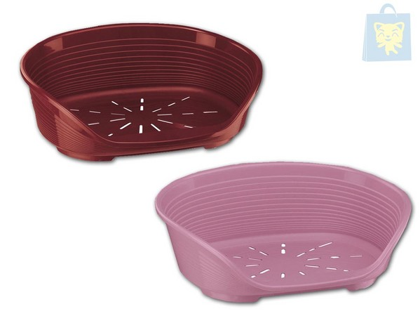 FERPLAST - PLASTIC CRIB SIESTA DELUXE (Various sizes, Pink and Burgundy)