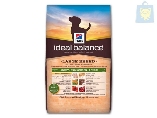 HILLS - IDEAL BALANCE - CANINE ADULTO LARGE BREED CON POLLO Y ARROZ INTEGRAL (12Kg)