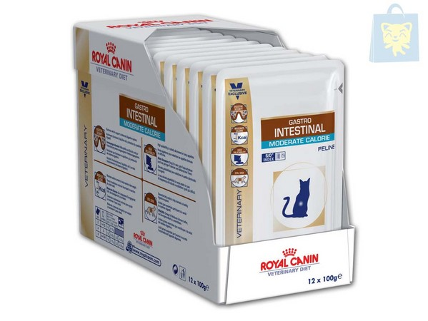 ROYAL CANIN-VETERINARY DIET - GASTRO INTESTINAL MODERATE CALORIE (12Uds - 100g)