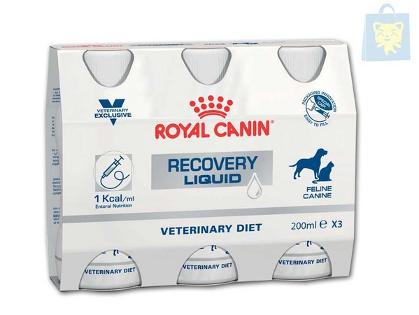 ROYAL CANIN-VETERINARY DIET - RECOVERY PERRO/GATO DIETA LIQUIDA (3 x 200ml)
