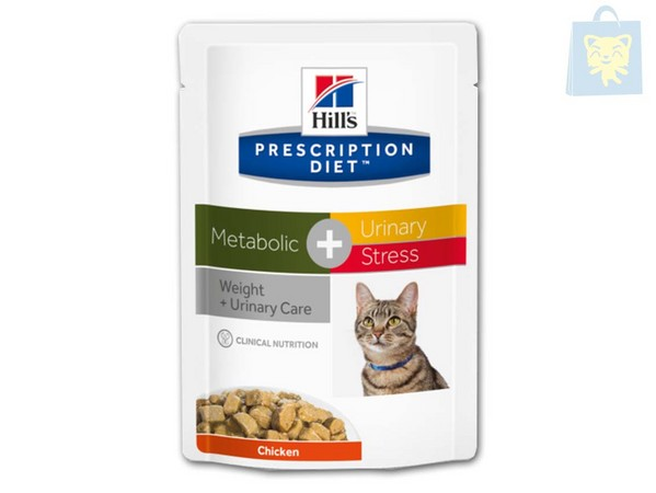 HILLS - PRESCRIPTION DIET - METABOLIC PLUS URINARY STRESS FELINE (85g - 12Uds)