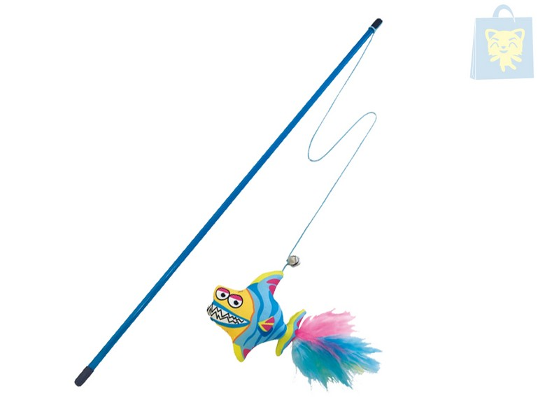 CAMON - INTERACTIVE TOY FISH ROD WITH FEATHER (45cm)