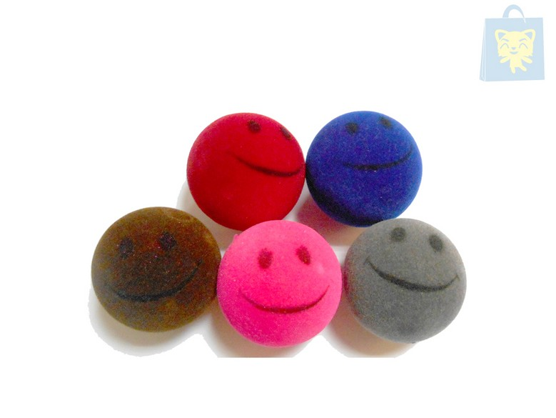 RIBECAN - SOFT BALL WITH SOUND 4cm (Various colors)