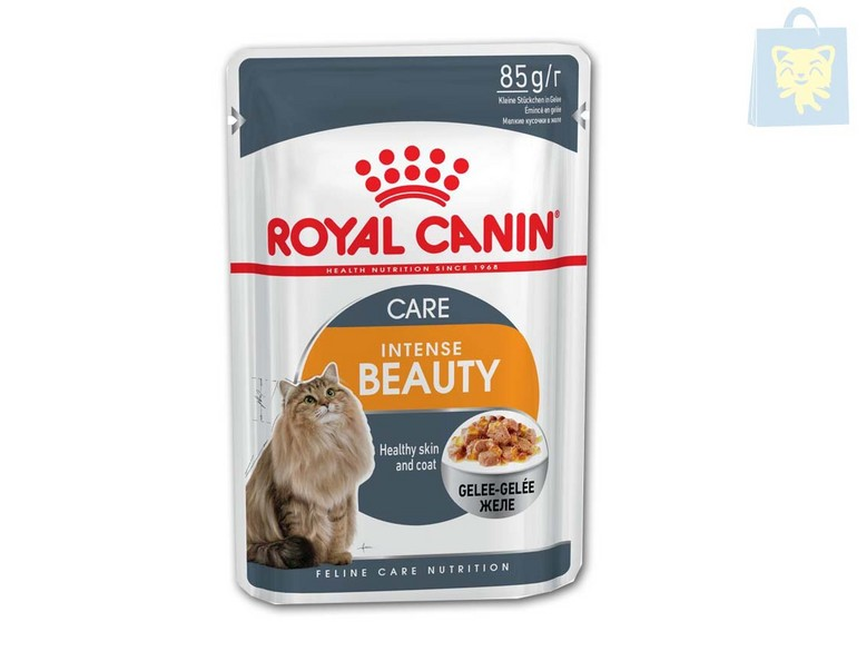 ROYAL CANIN - INTENSE BEAUTY GATO (12Unds y 24Unds x 85g)