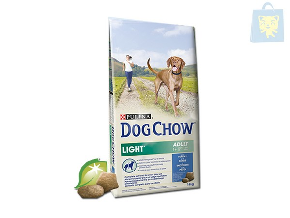 DOG CHOW - ADULTO LIGHT CON PAVO Y ARROZ (14 Kg)