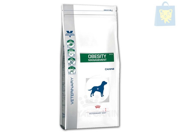 ROYAL CANIN-VETERINARY DIET - OBESITY MANAGEMENT DP34 (1,5Kg, 6Kg y 14Kg)