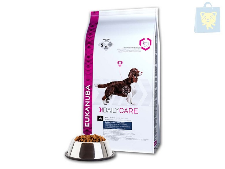 EUKANUBA-DAILY CARE - DAILY CARE OVERWEIGHT, STERILIZED (2,5Kg y 12,5Kg)