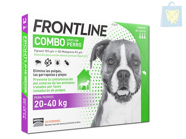MERIAL - FRONTLINE COMBO 20-40Kg (1,3 y 6 pipettes)