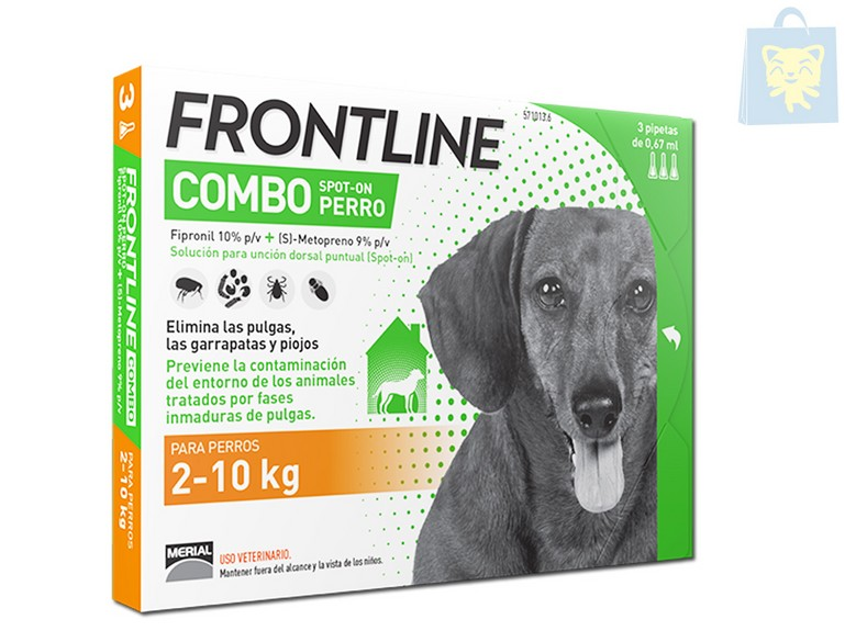 MERIAL - FRONTLINE COMBO 2-10Kg (1,3 y 6 pipettes)