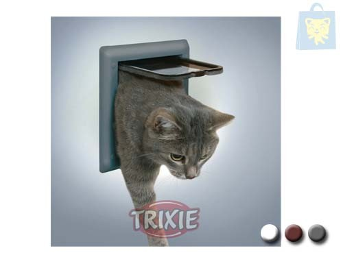 TRIXIE - DOOR 2-POSITION CATS AND DOG MINI (White, Grey or Brown)