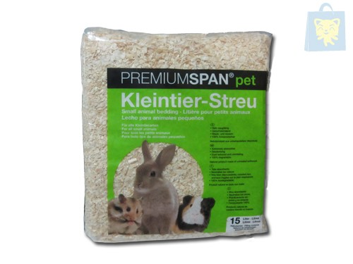 PREMIUMSPAN - RODENT´S BEDDING WITH (15L/1Kg) (Various flavors)