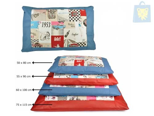 CAMON - CAMA PIN UP IMITACION PIEL AZUL (50cm) - OUTLET - OUTLET