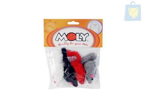 MOLY - MOUSE plush (5 cm-Pack 4)