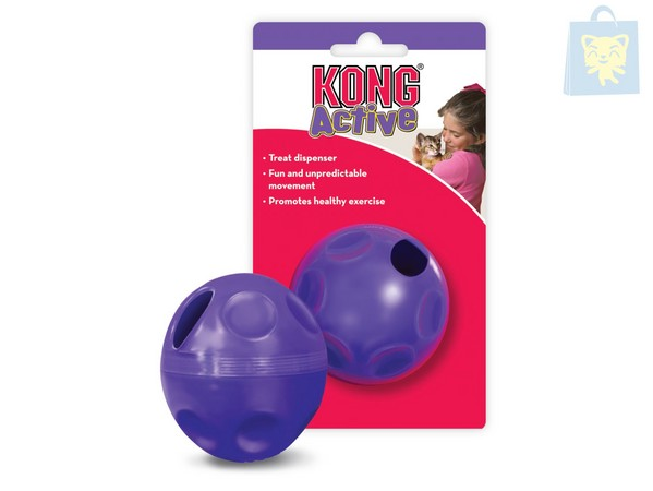 KONG - ACTIVE CAT TREAT BALL (7x10cm)