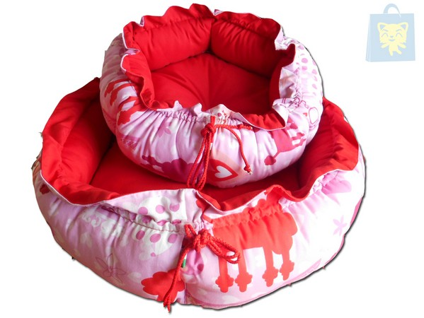 CAMON - ROUND BED RED AND PINK (Size S and M) - OUTLET - OUTLET