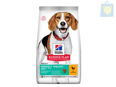HILLS - SCIENCE PLAN - ADULTO PERFECT WEIGHT RAZA MEDIANA (2Kg y 10Kg)