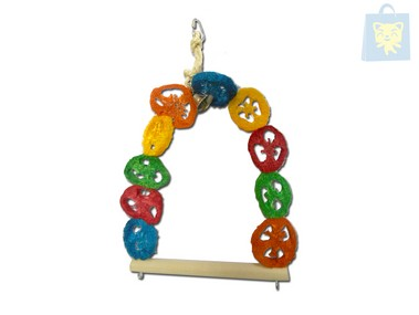ARQUIVET - MULTICOLOR SPONGE AND BELL SWING (27x30cm)