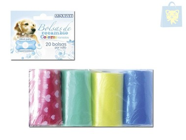 ARQUIVET - COLORED HYGIENIC BAGS (4 rolls pack)