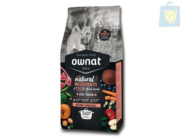 OWNAT - MEDIUM LAMB & RICE (3Kg, 8Kg y 14Kg)
