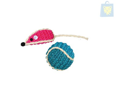 TRIXIE - SISAL TOY SET (5.5cm and 8cm)