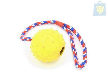 GLORIA - RUBBER BALL WITH ROPE (Various colors)