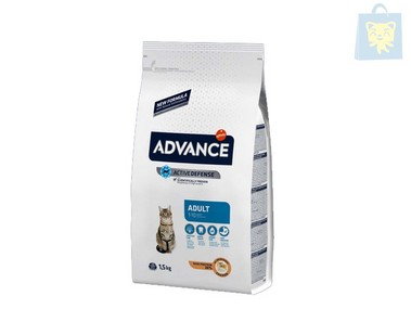 AFFINITY-ADVANCE - GATO ADULTO POLLO Y ARROZ (0,4Kg,1,5Kg,3Kg y 15Kg)