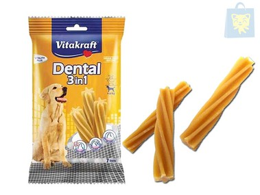 VITAKRAFT - SNACK DENTAL 3EN1 PERROS GRANDES (180g)