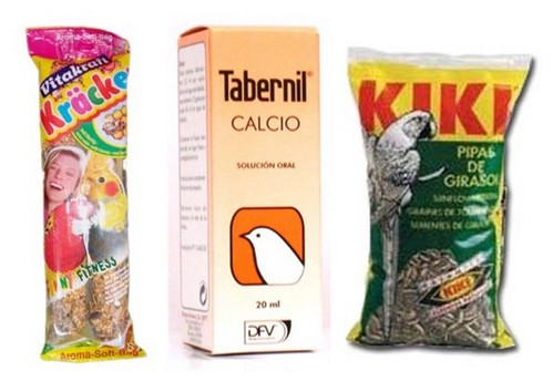 Snacks and Nutritional Supplements para Birds